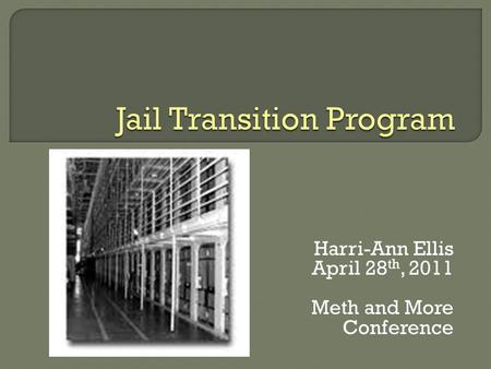 Harri-Ann Ellis April 28 th, 2011 Meth and More Conference.