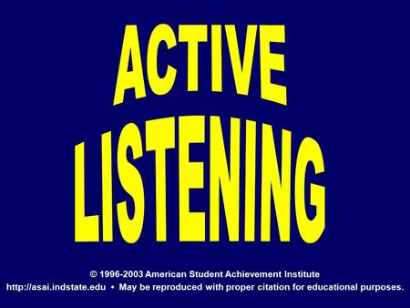 © 1996-2003 American Student Achievement Institute  May be reproduced with proper citation for educational purposes.