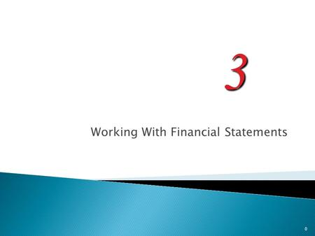 3 Working With Financial Statements 0. 1. Know how to standardize financial statements for comparison purposes 2. Know how to compute and interpret important.