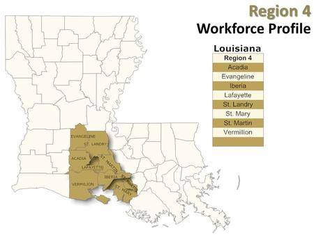Region 4 Region 4 Workforce Profile. Industry Breakdown – Top 10.