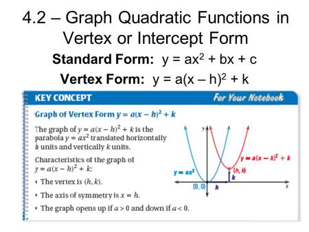 Chapter 8 – Quadratic Functions and Factoring - ppt video ...