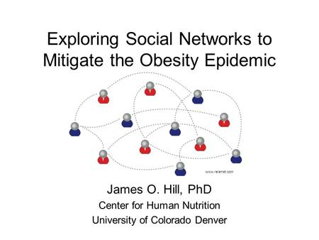 Exploring Social Networks to Mitigate the Obesity Epidemic James O. Hill, PhD Center for Human Nutrition University of Colorado Denver www.relenet.com.