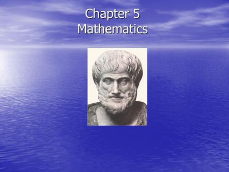 Chapter 5 Mathematics.