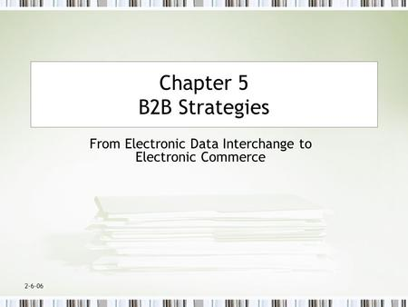 From Electronic Data Interchange to Electronic Commerce