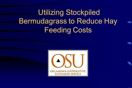 Utilizing Stockpiled Bermudagrass to Reduce Hay Feeding Costs.