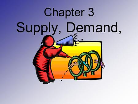 Chapter 3 Supply, Demand, and Price