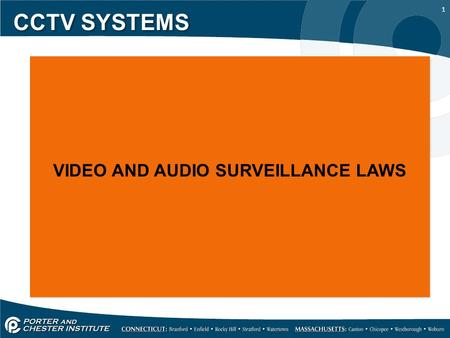 VIDEO AND AUDIO SURVEILLANCE LAWS