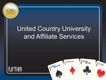 United Country University and Affiliate Services.