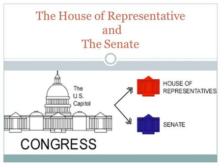 The House of Representative and The Senate