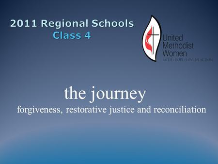 The journey forgiveness, restorative justice and reconciliation.