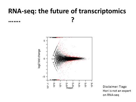 RNA-seq: the future of transcriptomics ……. ?