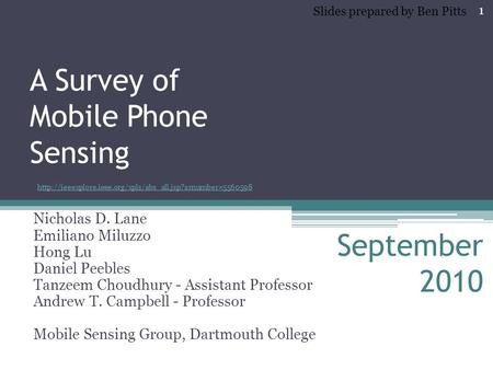 A Survey of Mobile <strong>Phone</strong> Sensing