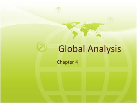 Global Analysis Chapter 4.