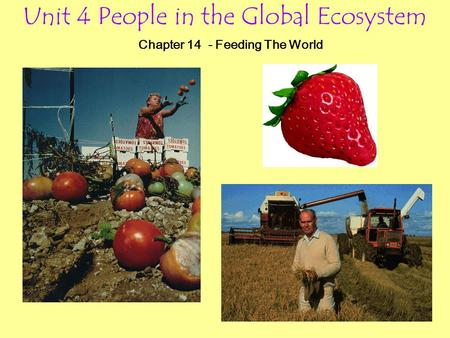 Unit 4 People in the Global Ecosystem