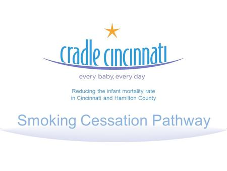 Smoking Cessation Pathway Reducing the infant mortality rate in Cincinnati and Hamilton County.