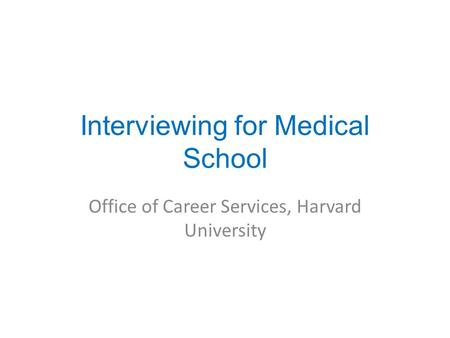 Health Professions Interviews: KEY RESOURCES | PRACTICAL TIPS ...