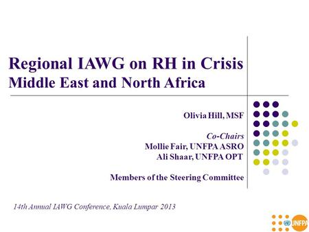 Regional IAWG on RH in Crisis Middle East and North Africa