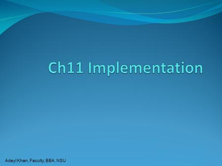 Ch11 Implementation.