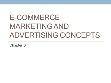 E-Commerce Marketing and advertising concepts
