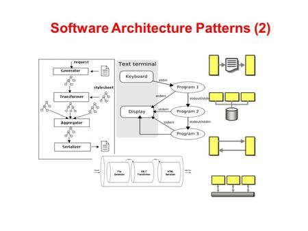 Software Architecture Patterns (2). what is architecture? (recap) o an overall blueprint/model describing the structures and properties of a system