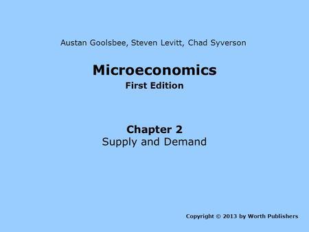 microeconomics by goolsbee levitt and syverson pdf