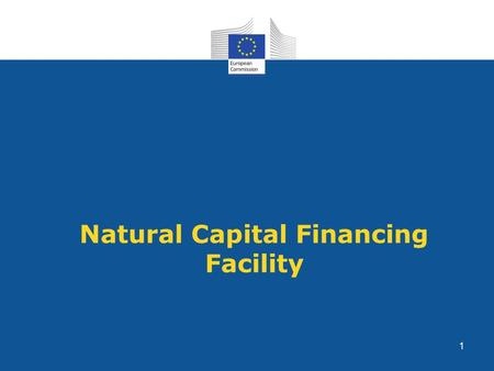Natural Capital Financing Facility 1. NCFF Objectives: To encourage investments in revenue-generating or cost-saving projects promoting the conservation.