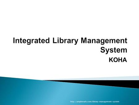 Integrated Library Management System