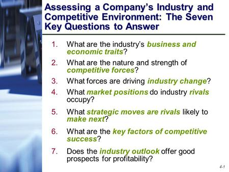 What are the industry's business and economic traits?