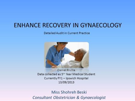 Consent for Common Obstetric and Gynaecological Procedures