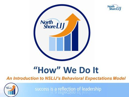 """How"" We Do It An Introduction to NSLIJ's Behavioral Expectations Model."