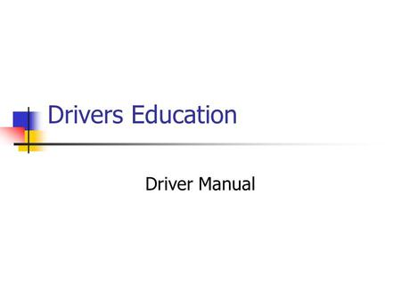 Drivers Education Driver Manual. The Points System MVC keeps track of individual driving records through a point system that assigns points to each traffic.