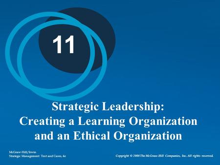 create a leadership strategy that supports organisational direction Organizations need leadership strategies in order to create confidence for employees and other stakeholders that there is a clear direction in which the organization aims to head understanding leadership culture is the first stage to creating an effective leadership strategy the next step is to.