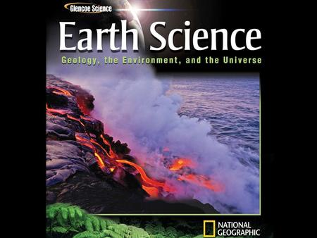 Objectives Compare the areas of study within Earth science.