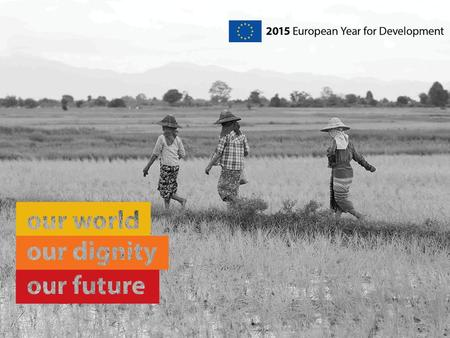 Why have a European Year for Development in 2015?