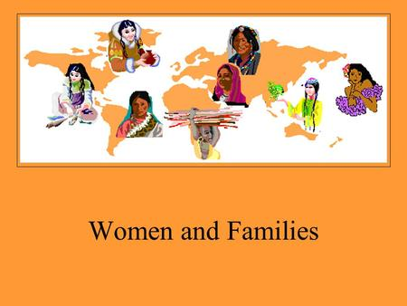 Women and Families. What Is a Family? A family is a group of people who are connected to one another by consanguineal, affinal or fictive kin ties.