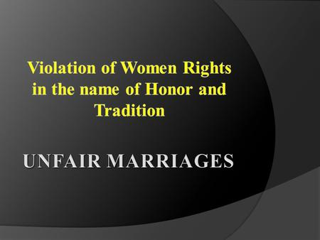 Early Marriages Early marriage is a marriage of children and adolescence below the age of 18.