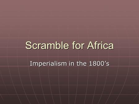 Scramble for Africa Imperialism in the 1800's. How does the image below reflect European Countries ideals on imperialism?