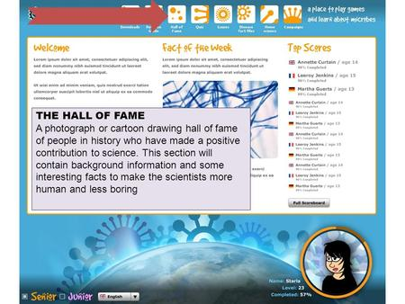 Hall of fame THE HALL OF FAME A photograph or cartoon drawing hall of fame of people in history who have made a positive contribution to science. This.