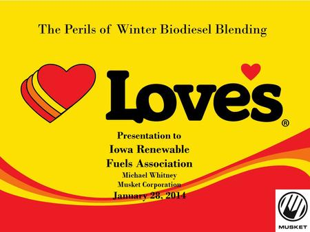 The Perils of Winter Biodiesel Blending