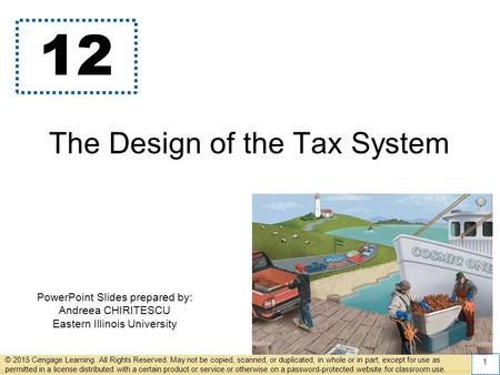 The Design of the Tax System