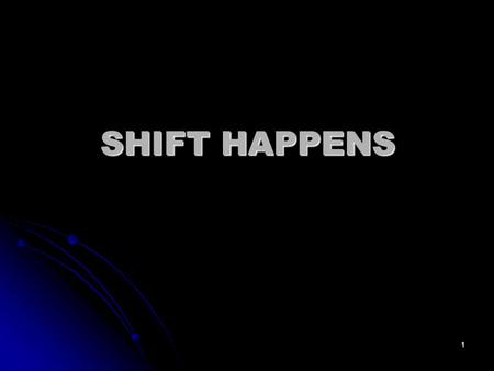 1 SHIFT HAPPENS. 2 Did you know? 3 Sometimes size does matter.