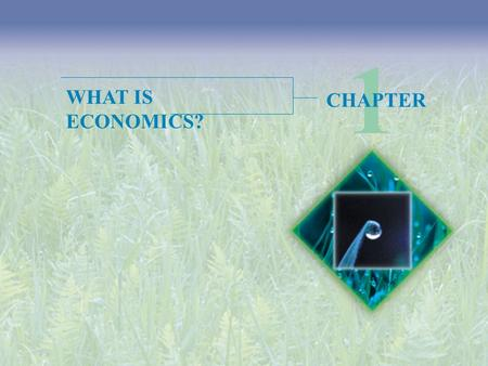 1 WHAT IS ECONOMICS? CHAPTER.