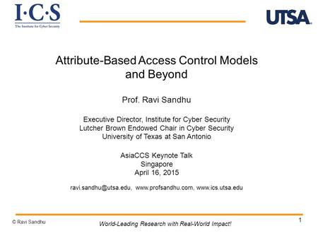 Attribute-Based Access Control Models and Beyond