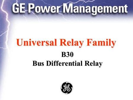 Universal Relay Family