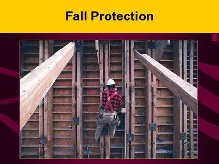 Fall Protection I. Background for the Trainer: