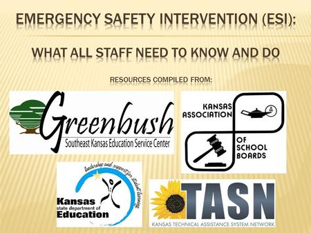 1. To define Emergency Safety Interventions (ESI):  Seclusion  Restraint  History and Purpose 2. To identify the requirements of the ESI regulations.