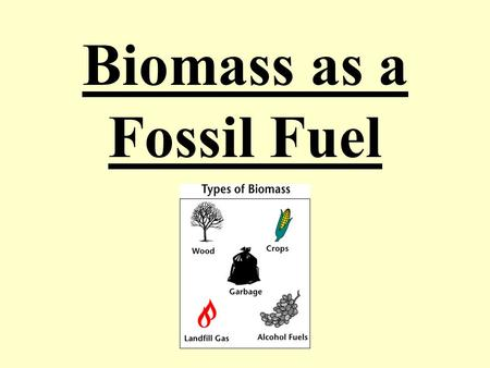 Biomass as a Fossil Fuel. Biofuel (also called agrofuel) can be defined as solid, liquid, or gas fuel consisting of, or derived from biomass. Biofuels.