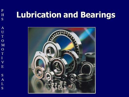 Lubrication and Bearings