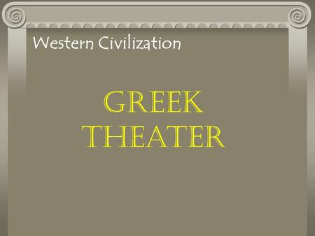an analysis of the history of greek theater in tragedy a play written by sophocles In his poetics, aristotle outlined the ingredients necessary for a good tragedy, and based his formula on what he considered to be the perfect tragedy, sophocles's oedipus the king according to aristotle, a tragedy must be an imitation of life in the form of a serious story that is complete in.