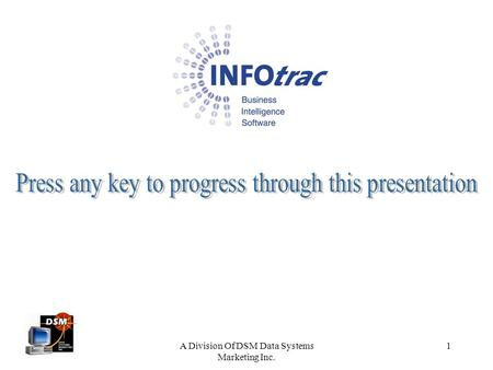 Press any key to progress through this presentation